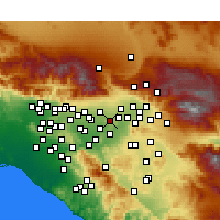 Nearby Forecast Locations - Fontana - Map