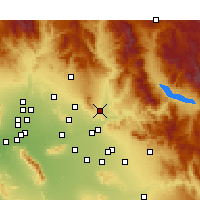 Nearby Forecast Locations - Fountain Hills - Map