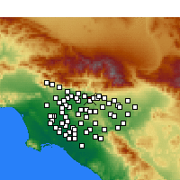 Nearby Forecast Locations - Glendora - Map