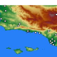 Nearby Forecast Locations - Goleta - Map