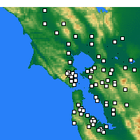 Nearby Forecast Locations - Greenbrae - Map