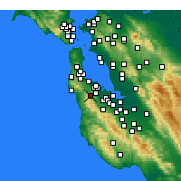 Nearby Forecast Locations - Half Moon Bay - Map