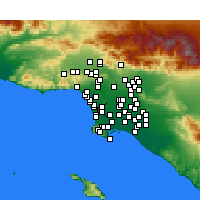 Nearby Forecast Locations - Hawthorne - Map