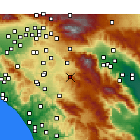 Nearby Forecast Locations - Hemet - Map