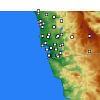Nearby Forecast Locations - Imperial Beach - Map
