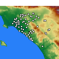 Nearby Forecast Locations - Irvine - Map