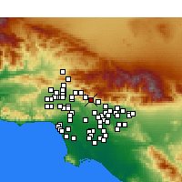 Nearby Forecast Locations - La Cañada Flintridge - Map