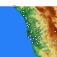 Nearby Forecast Locations - La Jolla - Map