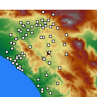 Nearby Forecast Locations - Menifee - Map