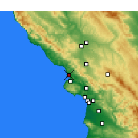 Nearby Forecast Locations - Morro Bay - Map