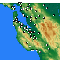 Nearby Forecast Locations - Mountain View - Map