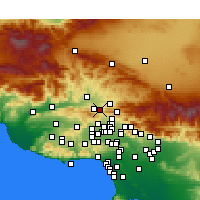 Nearby Forecast Locations - Newhall - Map
