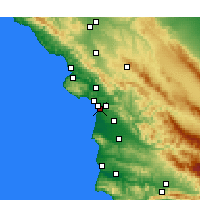 Nearby Forecast Locations - Oceano - Map