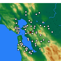 Nearby Forecast Locations - Orinda - Map