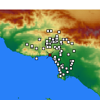 Nearby Forecast Locations - Pacific Palisades - Map