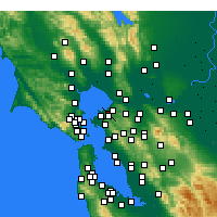 Nearby Forecast Locations - Pinole - Map