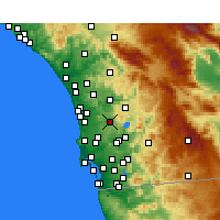 Nearby Forecast Locations - Poway - Map