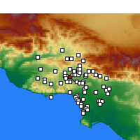 Nearby Forecast Locations - Reseda - Map