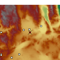 Nearby Forecast Locations - Ridgecrest - Map