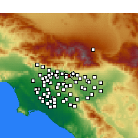 Nearby Forecast Locations - San Dimas - Map