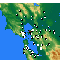 Nearby Forecast Locations - San Pablo - Map