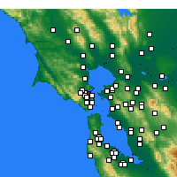 Nearby Forecast Locations - San Rafael - Map