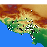 Nearby Forecast Locations - Simi Valley - Map