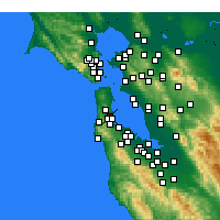 Nearby Forecast Locations - South San Francisco - Map