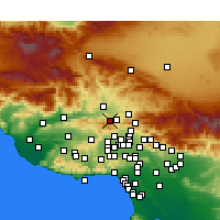 Nearby Forecast Locations - Stevenson Ranch - Map