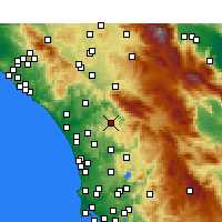 Nearby Forecast Locations - Valley Center - Map