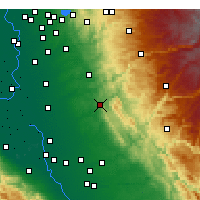 Nearby Forecast Locations - Valley Springs - Map