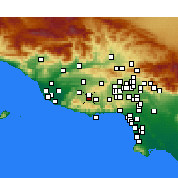 Nearby Forecast Locations - Westlake Village - Map