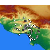 Nearby Forecast Locations - Winnetka - Map